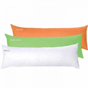 Body Microfibra Blanco Con Fundas Naranja Y Verde Limón